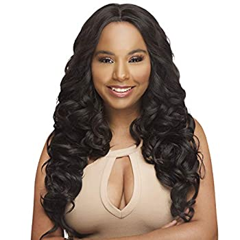 The Stylist Synthetic Lace Front Wig Swiss Lace Silk Top Curl-A-Licious  1B
