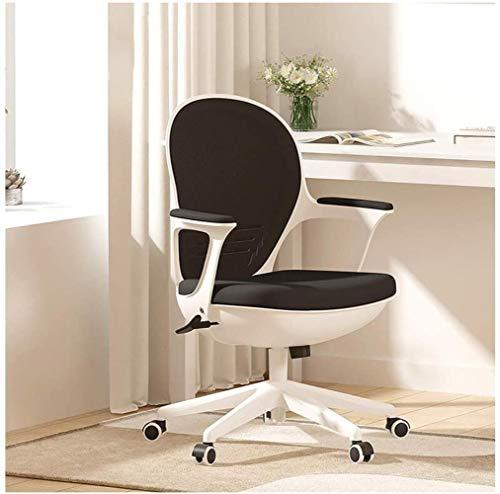 YONGYONGCHONG Sessel Bürostuhl, Computer zu Hause Bürostuhl, ergonomische Konferenz Study Chair Schülerstuhl Eggshell Stuhl Einfacher Hocker Stuhl (Color : Black)