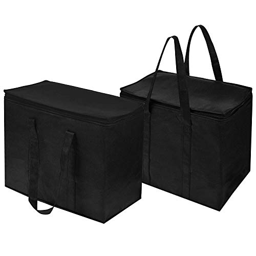 Food Delivery Bag Portable Food Warmer Grocery Bag Reusable Convenient Space Saving Large Capacity Thermal Insulation