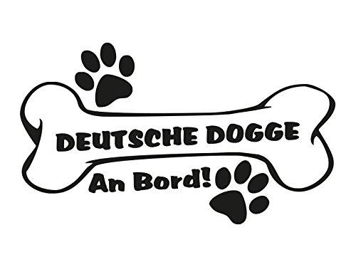 1 x Plott Aufkleber Hundeknochen Deutsche Dogge An Bord Pfote Hund Dog Bone