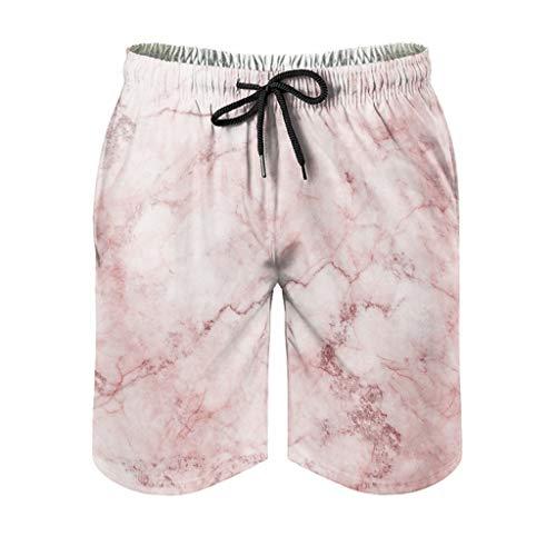 Bañador para hombre con textura de mármol, para verano, estilo moderno Blanco2 XXXXXL