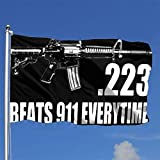 WENZI 223 Caliber Ar15 M16 Assault Rifle 2nd Amendment Outdoor Flag Home Garden Flag Banner Breeze Flag USA Flag Decorative Flag 4x6 Ft Flag