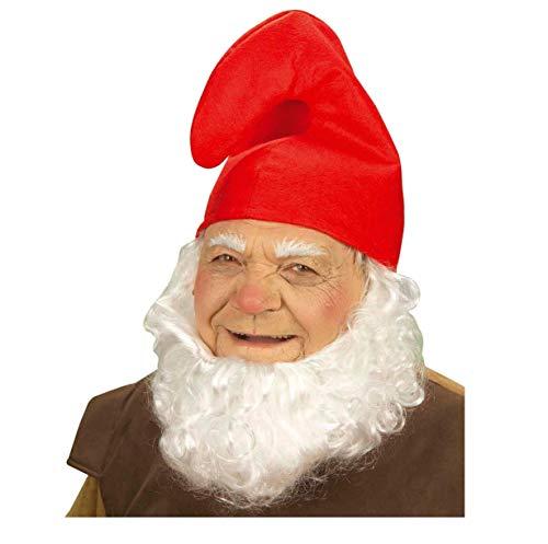 Unbekannt 1 x Zwergenmütze Mütze rot Kopfumfang ca. 57 cm - Zwerg Fasching Fastnacht Karneval fürs Kostüm Schlumpf Wichtel Kinder Erwachsene Theater