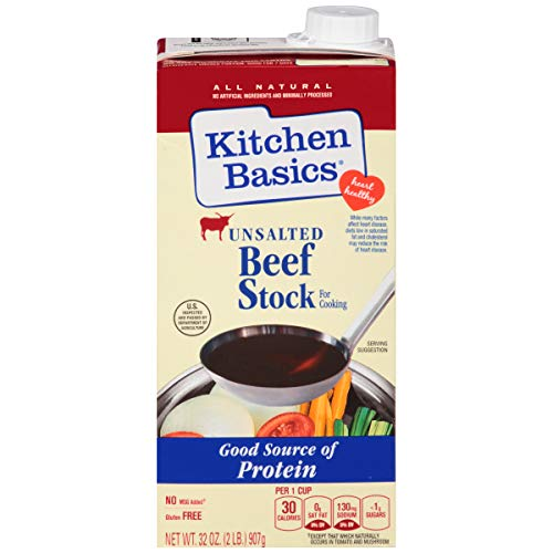 Kitchen Basics All Natural Unsalted Beef Stock, 32 fl oz