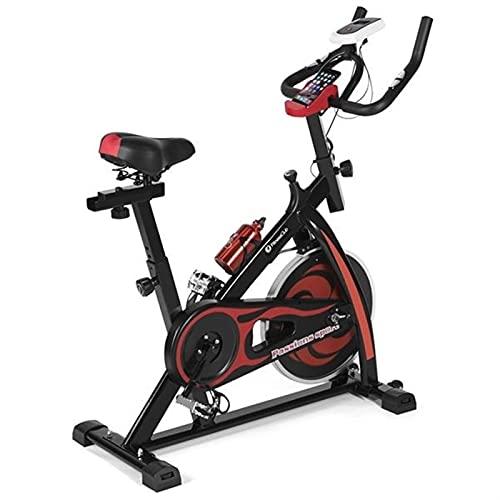 LightM Bicicletas de ejercicio vertical (ciclos de estudio interior), calidad de estudio con monitor de frecuencia cardíaca, volante bidireccional