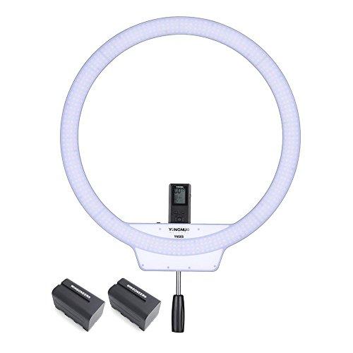 YONGNUO YN608 3200K ~ 5500K Draadloze Ring SMD-videolamp met 2PCS WINGONEER NP-F770 Batterij en batterijlader