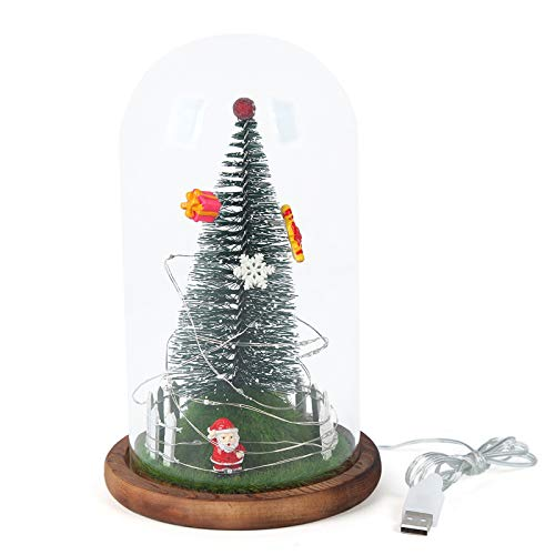 HXXXIN Christmas Ornaments Christmas LED Decoration Lights, Transparent Glass Cover, LED Office Decoration Glass Cover Ornaments