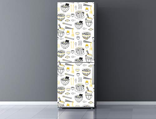 Oedim Vinilo para Frigorífico Comida 185x70cm   Adhesivo Resistente y Económico   Pegatina Adhesiva Decorativa de Diseño Elegante