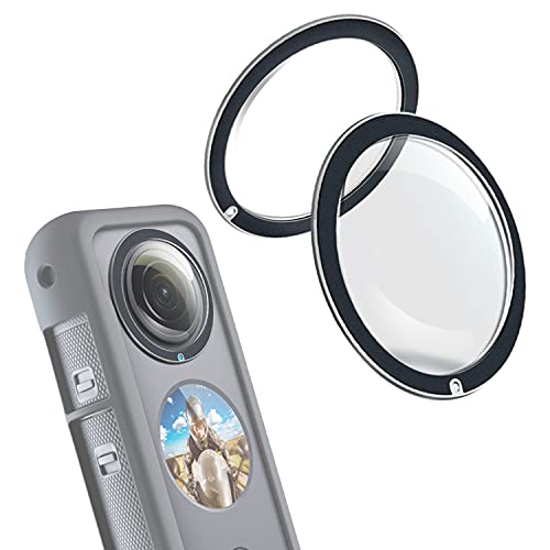 Dual Lens Guards for Insta360 One X2, PC Protective Case for Insta 360 ONE X2 Panoramic Action Camera Accessory