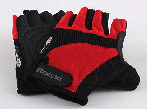 Roeckl guantes de ciclismo MTB verano corto del dedo Rojo Negro 1288,...