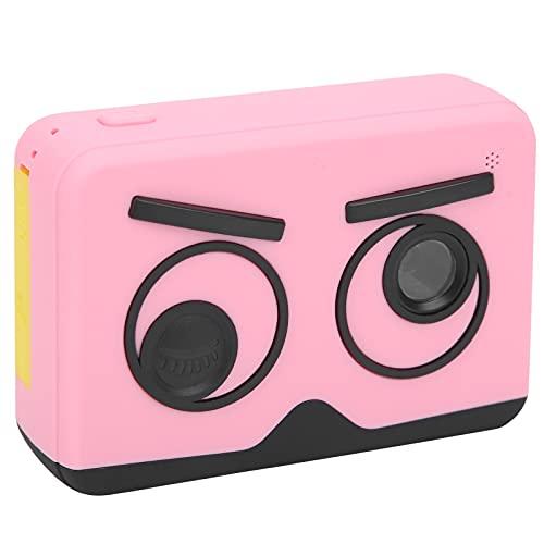 01 Cámara de Video, Regalo electrónico, multifunción, Doble Lente, Mini Pantalla IPS, cámara para niños con Correa antipérdida para Tomar Fotos para Grabar Videos(Pink)