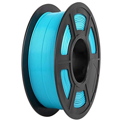 PLA Filament, PRINSFIL Filament PLA 1.75 mm, 3D Printing Materials for 3D Printer, 1 kg 1 Spool,WaterBlue