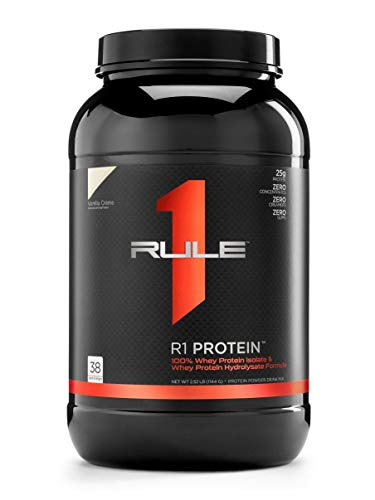 R1 Protein Whey Isolate/Hydrolysate, Rule 1 Proteins (38 Servings, Vanilla Creme)