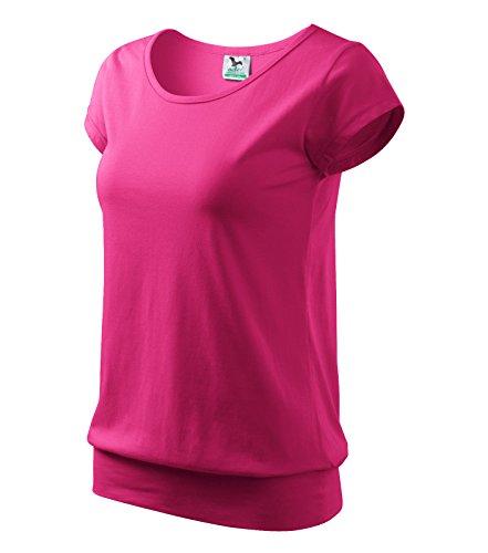 T-Shirt Ladies City Damenshirt 100% Baumwolle - Größe und Farbe wählbar- (M, Purpur)