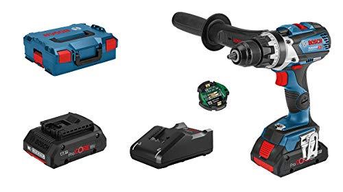 Bosch Professional 18V System Akku-Bohrschrauber GSR 18V-110 C (max. Drehmoment: 110 Nm, max. Schrauben-Ø: 12 mm, inkl. Connectivity-Modul, 2x4.0 Ah ProCore Akku, Ladegerät GAL 18V-40, in L-BOXX)