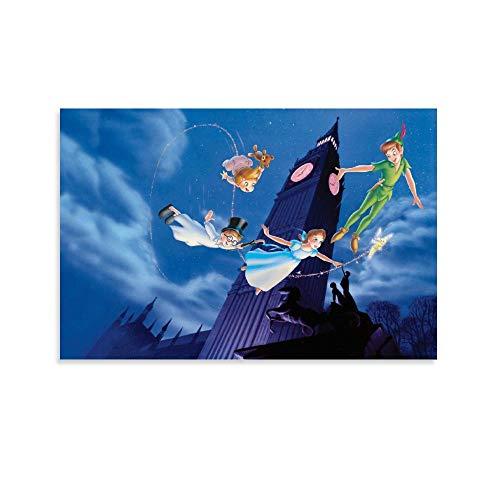 DIDIWEI Póster de Big Ben Peter Pan decorativo, lienzo para pared, sala de estar, póster para dormitorio, 30 x 45 cm