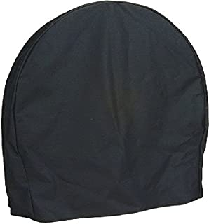 Sunnydaze Firewood Log Hoop Cover ONLY, Heavy-Duty Outdoor Waterproof and Weather-Resistant, 48-Inch, Black
