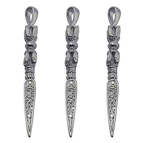 Cheriswelry 20 große Schwert-Anhänger, antikes Silber, Messing, Messer, Waffe, baumelnder Anhänger für Halskette, Armband, Schlüsselanhänger, Herren-Schmuck