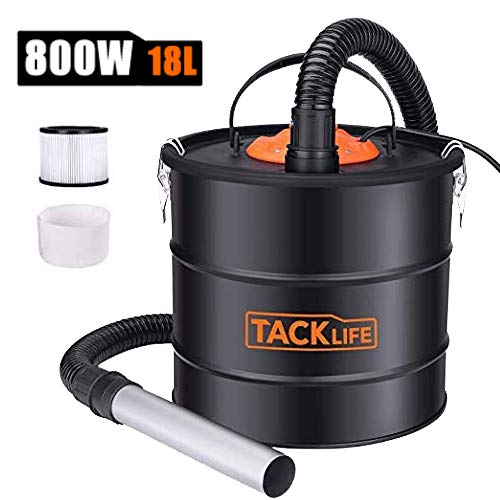 Fantastic Deal! Ash Vacuum TACKLIFE 5 Gallon 800W Fireplace Vacuum with Blow fonction, 1.2M Metal Ho...