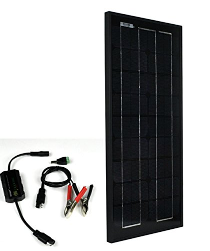 Instapark SP Series Mono-crystalline Photovoltaic PV Solar Panel (Charge Controller Included, 20 Watts)