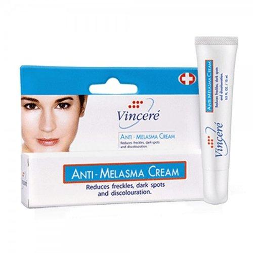Vincere Anti Melasma Cream Reduces Dark & Brown Spots, Age Spots, Sun Spots, Pigmentation, Freckles : 1 Piece