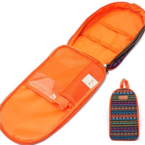 AXIANQI Outdoor-Aufbewahrungstasche Schneidebrett Tasche Tragbare Kochgeschirr Tasche Sinnlich Nationalen Wind Camping Handtasche Dampfer Gabel Aufbewahrungstasche (Color : Orange)