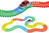 World Tech Toys Galaxy Flex-Track 220Piece Glow Track with Electric Led Light Car