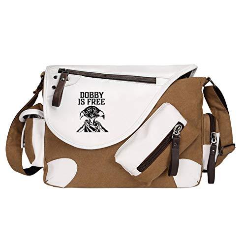 Harry Potter Children's Shoulder Bag Unisex Messenger Bag Casual Riding School Bag Owl Brown