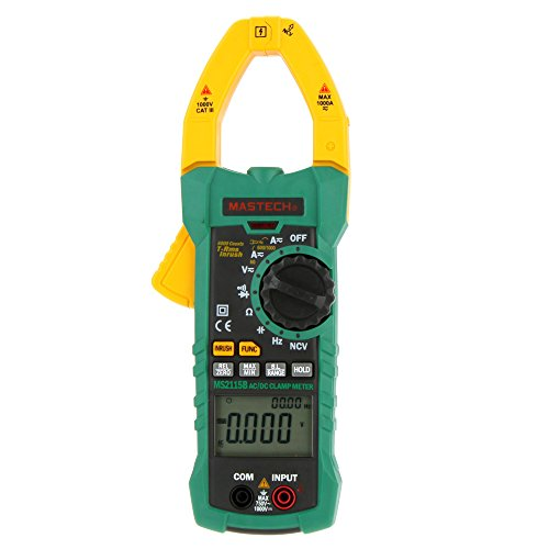 Mastech MS2115B True RMS Digital Clamp Meter Messzange Multimeter DC AC Voltage Current Ohm Kapazität Frequenz Messgerät mit USB