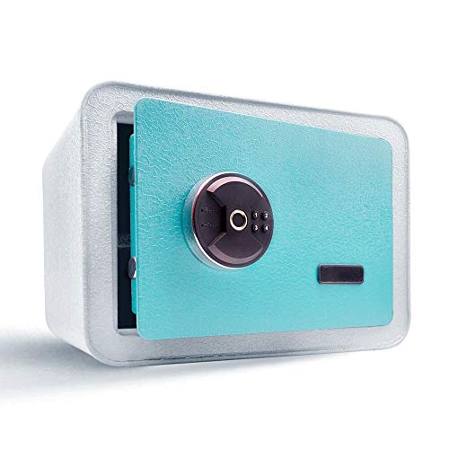 Guard Dog Security Biometric Safe Box - Fingerprint Safe and keypad Dual System - Suitable for Jewelry and Cash - Ideal for Homes, Hotels, and Offices - Aquamarine