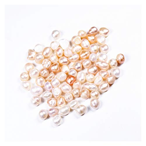 Sygjal Real Pearls Beads Natural Freshwater Cultured White Pearl Strand Pearl Gravel for DIY Craft Necklaces Stone