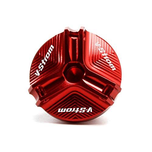 Tapa Líquido Freno Tapa De Llenado De Aceite para DL650 V-Storm DL1000 DL 650 / XT 1000 / XT V Storm VStorm Accesorios Cubierta De Tapón De Drenaje De Aceite del Motor (Color : Rojo)