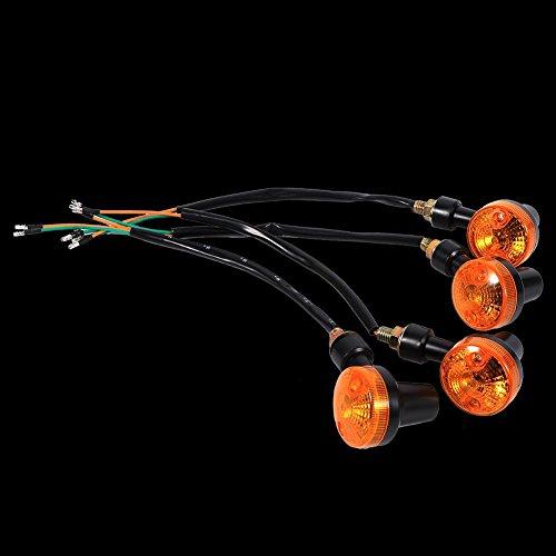 4 Pcs Feux Clignotant, Keenso Indicateurs de Clignotants de Moto Amber LED 12V Feux de Signal Feux de Freins Phares Antibrouillards Ambre Ampoule Universels