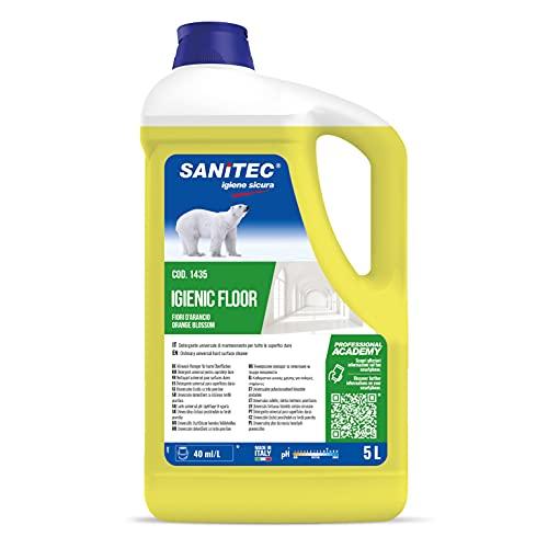 Sanitec Igienic Floor Detergente Pavimenti, 5 kg - Fiori D Arancio e Bergamotto