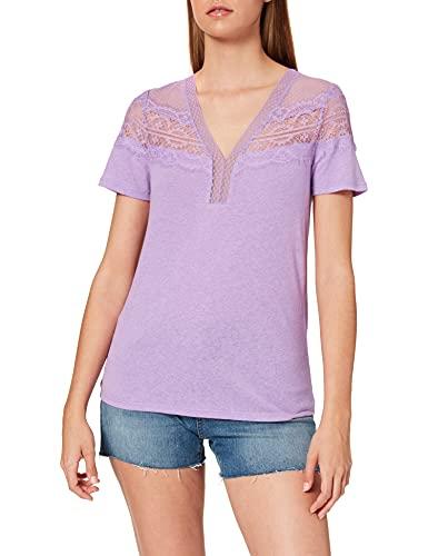 Morgan Tshirt Dieter Camiseta, Lilas, XS para Mujer