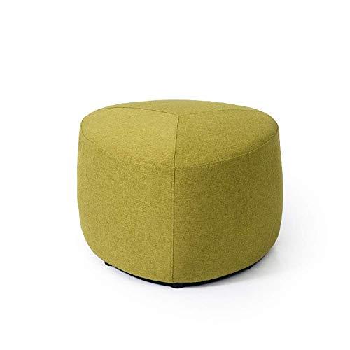 WWWWW-DENG barkruk laag Creative Lazy bank zitbank van stof, schoenwissel, moderne kruk, voetenbank (kleur: blauw, maat: klein)