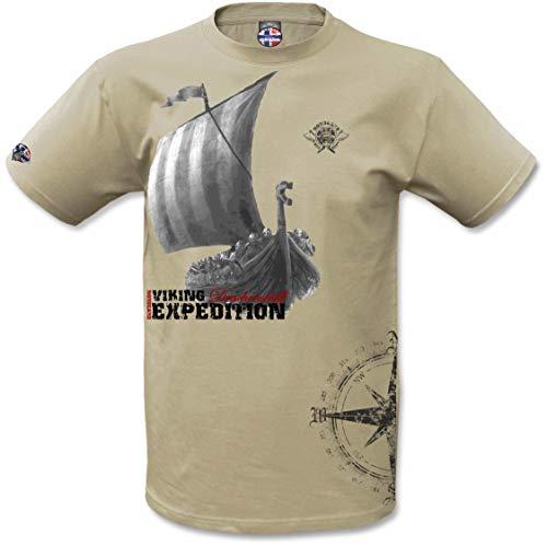 NORDGARD Shirt KOMPASS Wikinger Shirt für Damen und Herren des Modelabels (XXL)