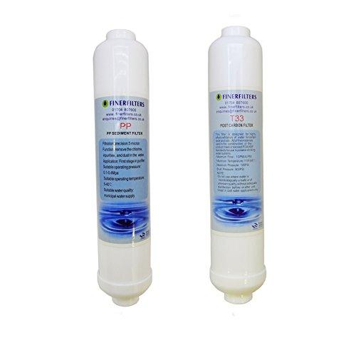 FINERFILTERS Filtri sostitutivi per filtri dell'acqua ad osmosi inversa per acquari compatti a 3 stadi
