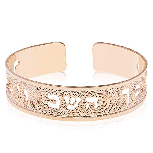 Numbers 6:24 Rose Gold Cuff, Scripture Jewelry in Hebrew for Women, Beautifully Packaged, Handmade in Israel