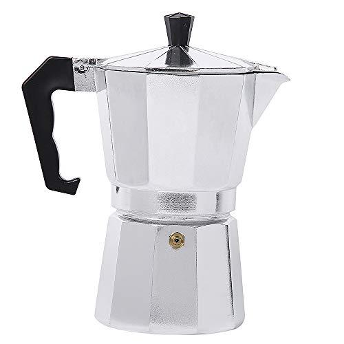 Lixada kaffeemaschine 50/150/300/450/600ML Aluminium Percolator Kaffeekocher zum Zuhause Büro Camping