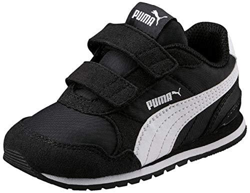 PUMA Unisex Baby ST Runner v2 NL V Inf Sneaker, Black White, 21 EU