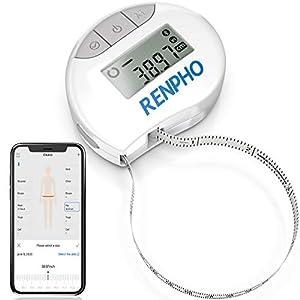41UPm6ZQZyL. SS300  - Cinta métrica inteligente con aplicación: cintas métricas Bluetooth RENPHO para medir el cuerpo, fitness, retractable…