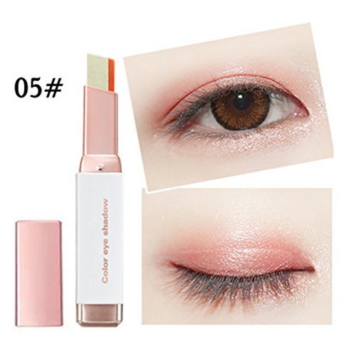 Allbesta Two-Tone Gradient Eyeshadow Pen Makeup Stick Shimmer Double Colors Eye Beauty