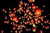 Hangqiao 20 Farolillos Volantes Color Blanco Lámparas voladoras Sky Lantern Linternas Blanca