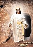LaJiTong Decoracion Pared Cuadro Famoso Aceite religioso de Cristo Jesús en Carteles e Impresiones Imagen de Arte de Pared escandinavo 60x90cm