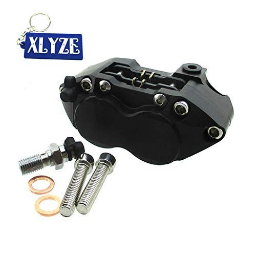 XLYZE Racing Performance - Pinza de freno de 4 pistones, color negro para Pit Dirt Super Motard Bike Scooter Moto
