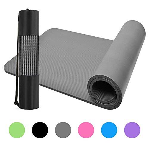 Nbr yogamat antislip tapijt mat pad pilates gymnastiek mat met mesh tas en dragen sling gym fitnessapparaten 1830 x 610 x 10 mm grijs