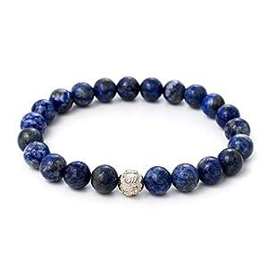 Lapislazuli Armband – Echtes Perlenarmband mit Naturstein und 925 Sterling Silberperle – BERGERLIN Feel Goods