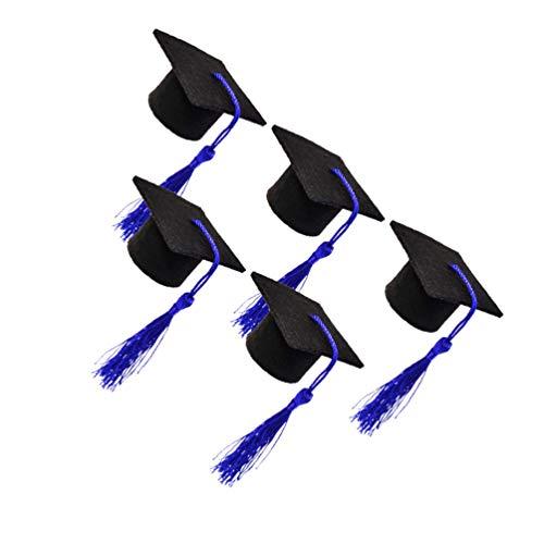 VALICLUD 5 Pzas Mini Borla de Forma de Tapa de Botella de Vino Adorable Adorno de Cubierta de Botella de Vino para La Fiesta de Graduación Decoración de Botellas de Cerveza (Azul Oscuro)