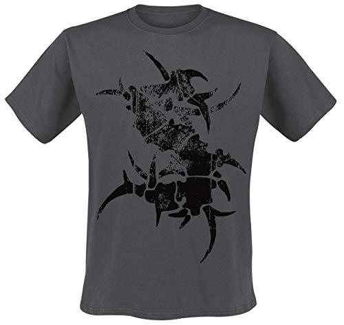 Sepultura Logo Hombre Camiseta Gris Marengo L, 100% algodón, [Effekte/Besonderheiten] + Regular